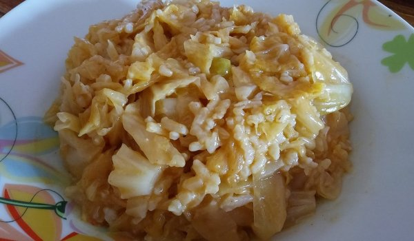 Sauerkraut with Rice in the Oven