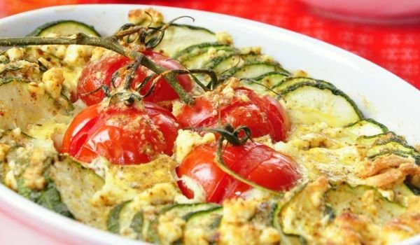 Baked Zucchini and Tomatoes