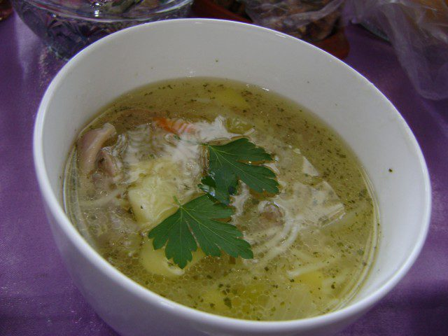 Chicken Soup with Vermicelli and Potatoes
