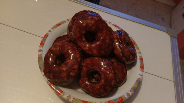 Baked Donuts, Glazed with Chocolate