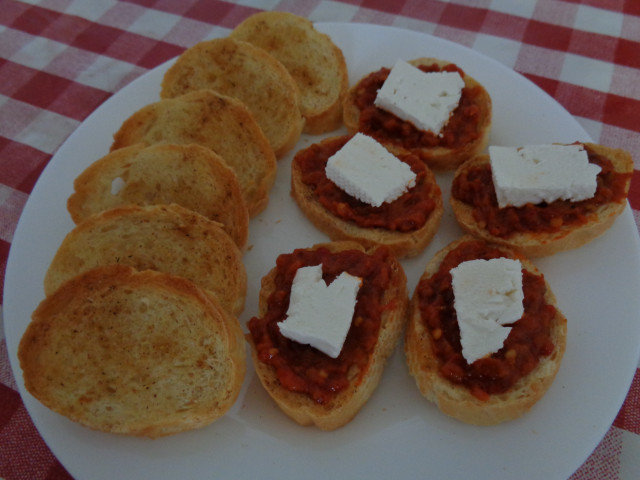 Homemade Bruschetta with Mixed Spices
